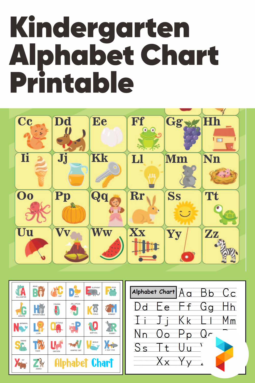 Kindergarten Alphabet Chart Printable