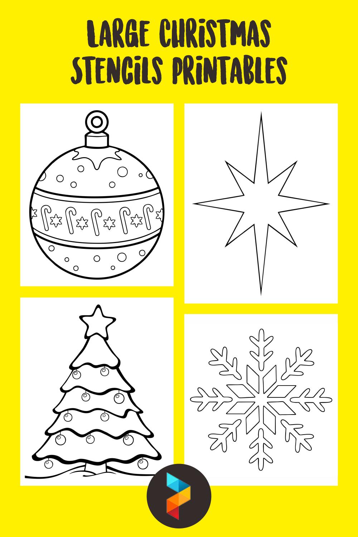 Large Christmas Stencils Printables