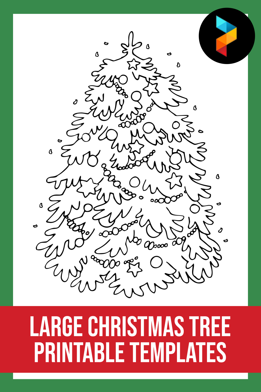 Large Christmas Tree Printable Templates