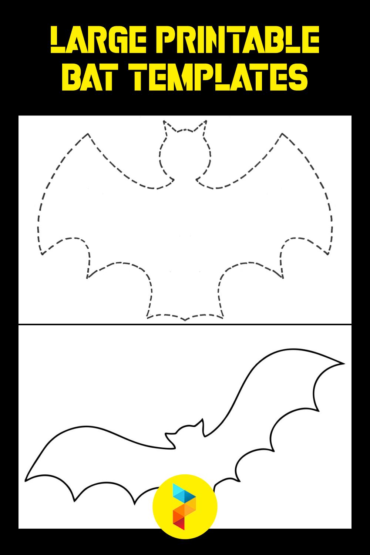 Large Printable Bat Templates