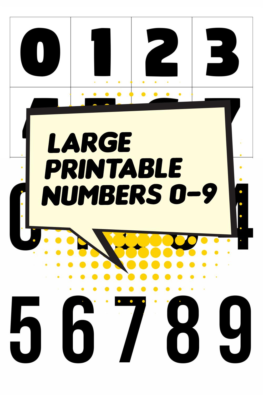 Large Printable Numbers 0-9