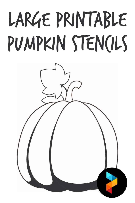 Large Printable Pumpkin Stencils