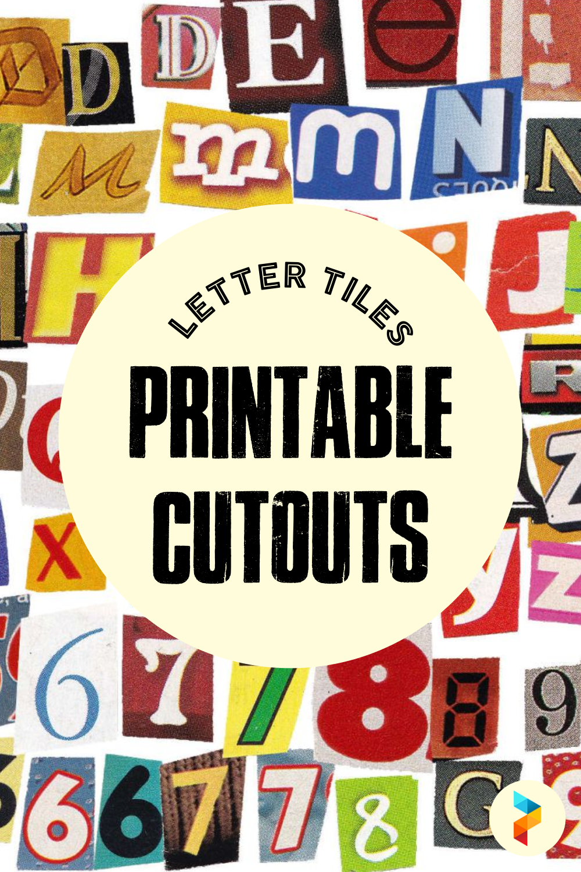 Letter Tiles Printable Cutouts