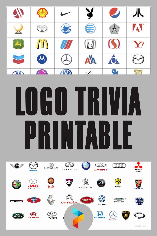 Logo Trivia Printable