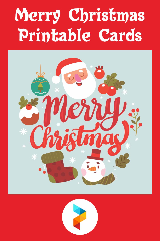 Merry Christmas Printable Cards