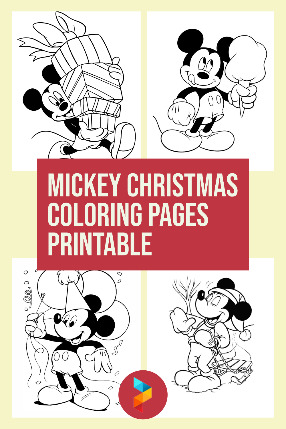 5 Best Mickey Christmas Coloring Pages Printable Printablee Com