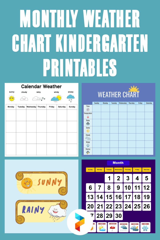Monthly Weather Chart Kindergarten Printables