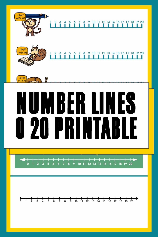 Number Lines 0 20 Printable
