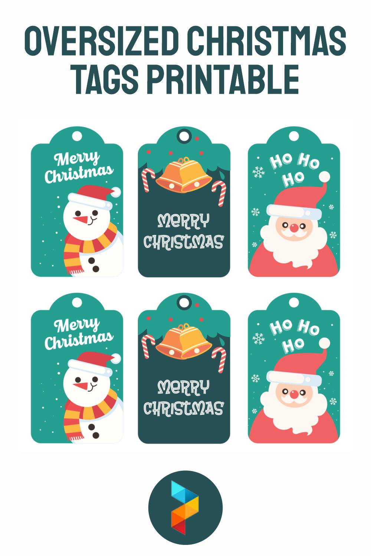 Oversized Christmas Tags Printable