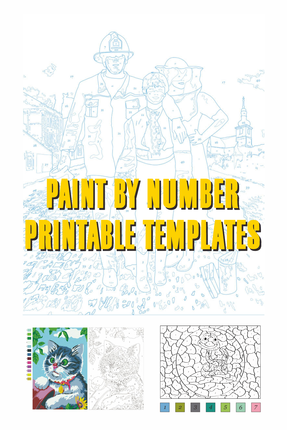 Paint By Number Printable Templates
