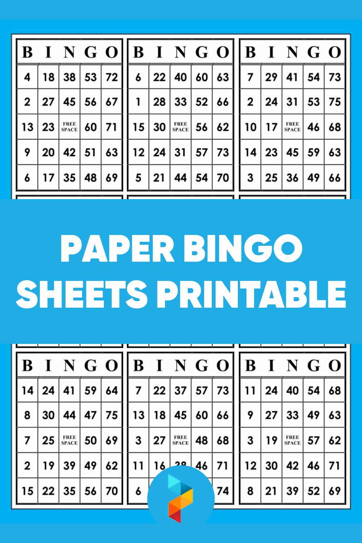 Paper Bingo Sheets Printable