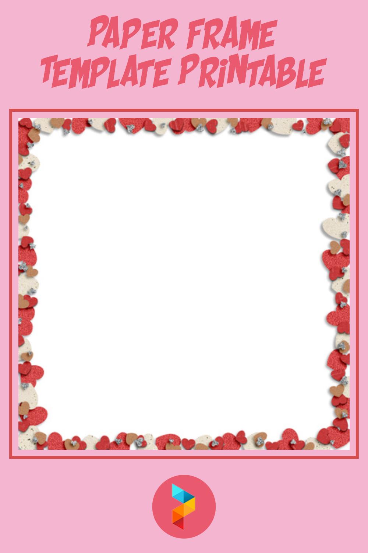 Paper Frame Template Printable