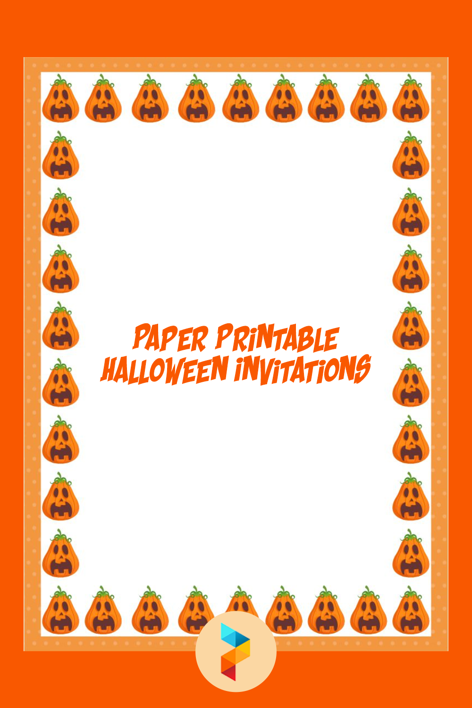 Paper Printable Halloween Invitations