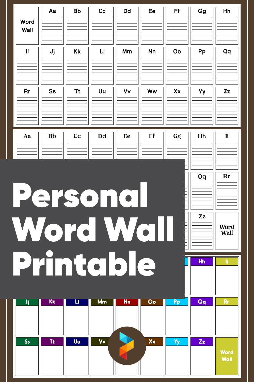Personal Word Wall Printable