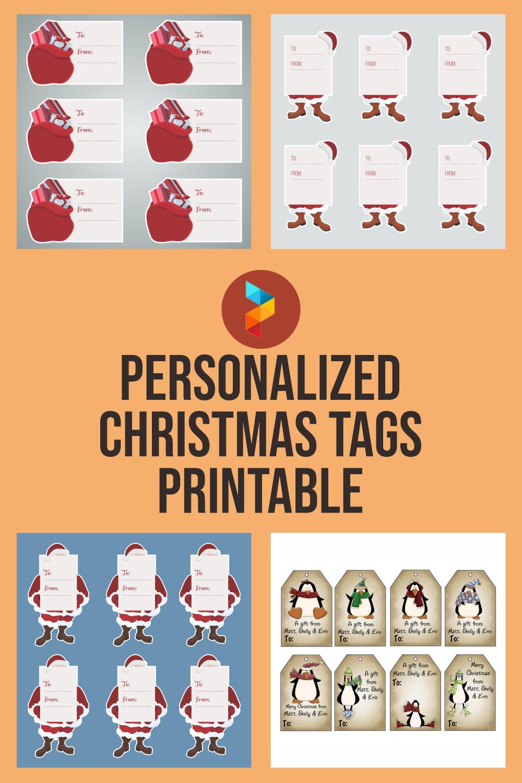 Personalized Christmas Tags Printable