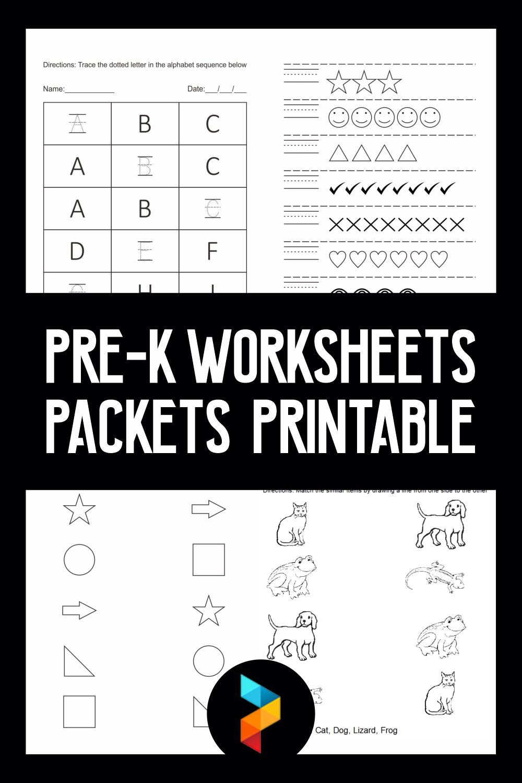 Pre-K Worksheets Packets Printable