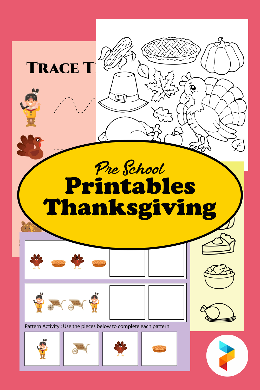 Pre School Printables Thanksgiving