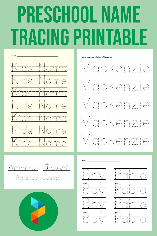 Preschool Name Tracing Printable