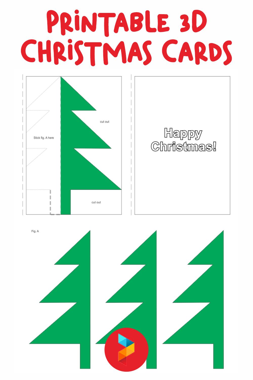 Printable 3D Christmas Cards