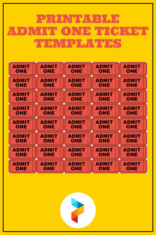 Printable Admit One Ticket Templates