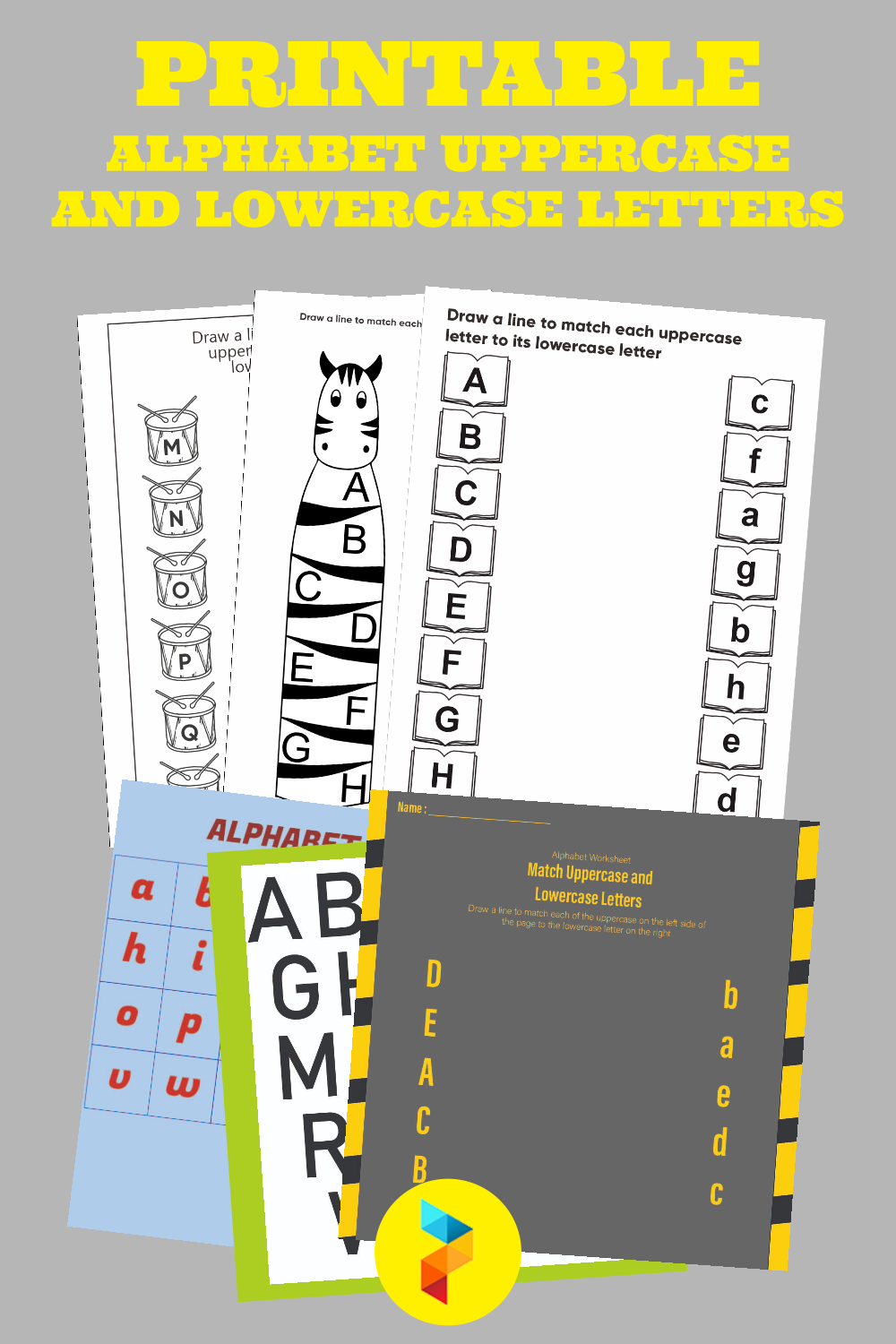Printable Alphabet Uppercase And Lowercase Letters