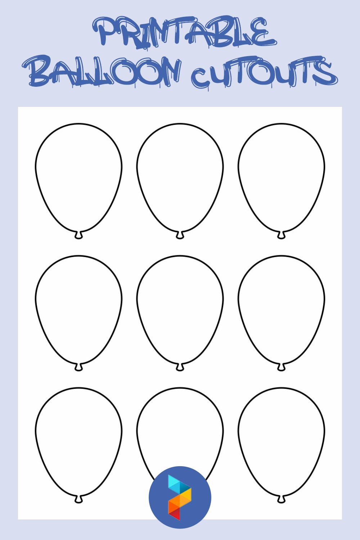 Printable Balloon Cutouts