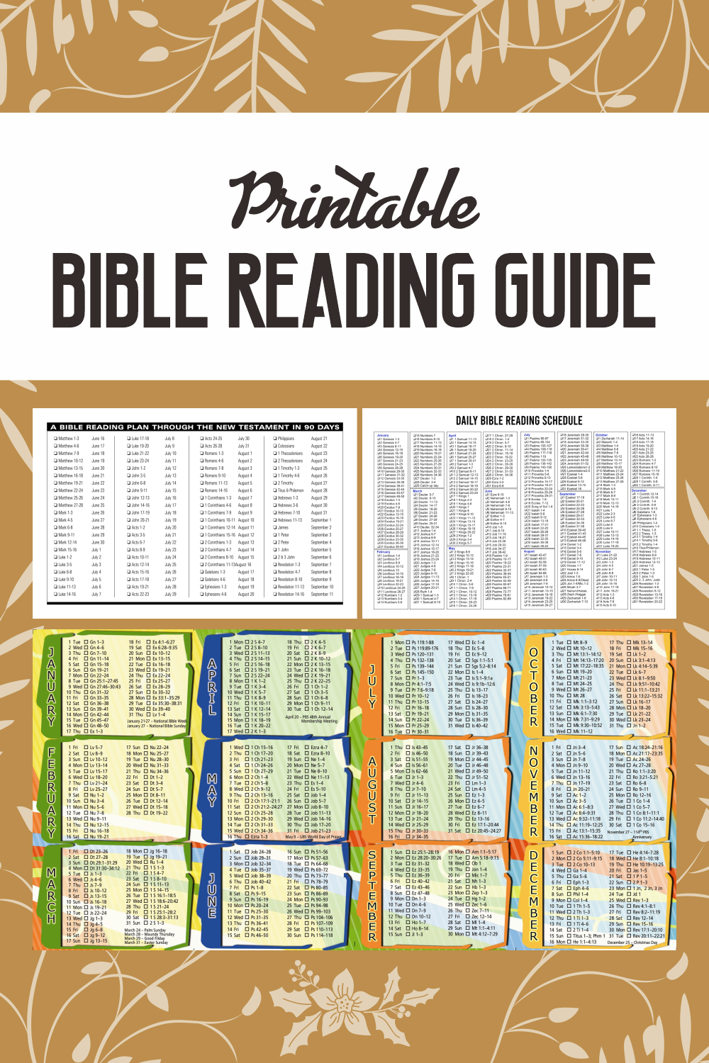 Printable Bible Reading Guide