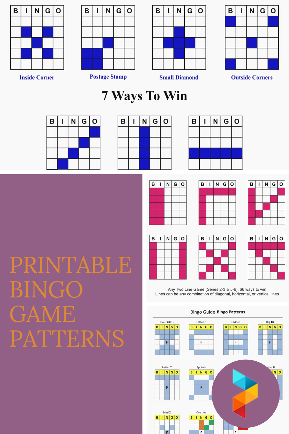 Printable Bingo Game Patterns