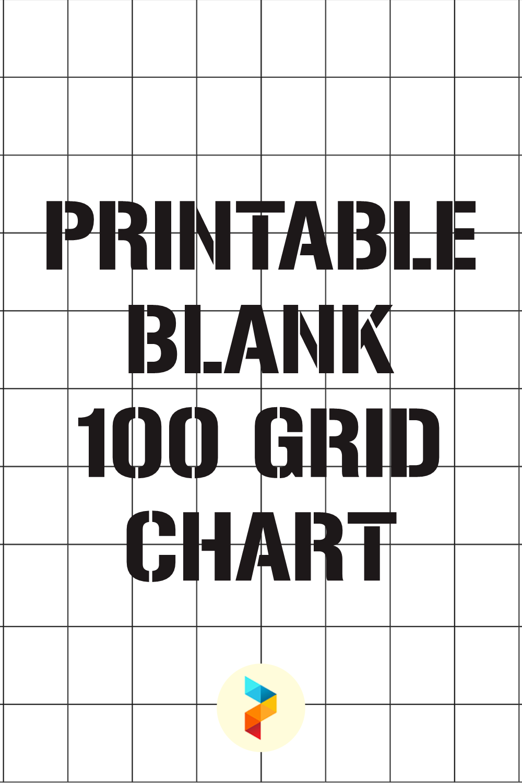 Printable Blank 100 Grid Chart