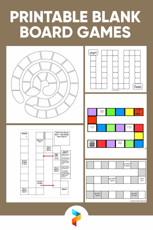 Printable Blank Board Games