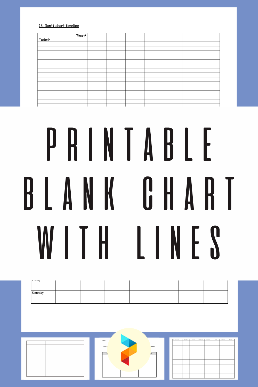 Printable Blank Chart With Lines