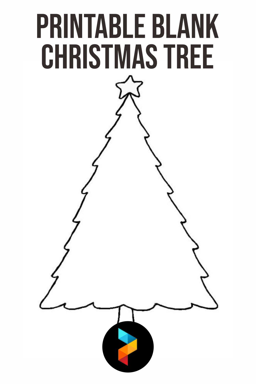 Printable Blank Christmas Tree