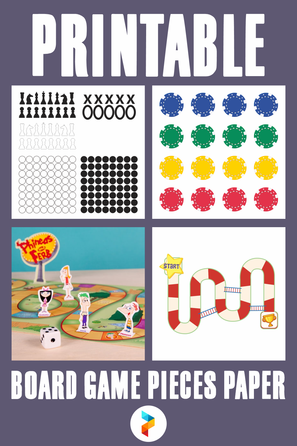Printable Board Game Pieces Paper