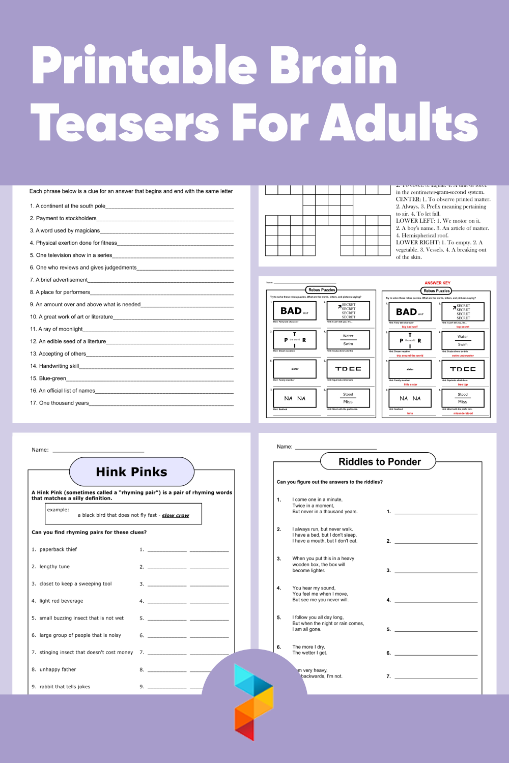 Printable Brain Teasers For Adults