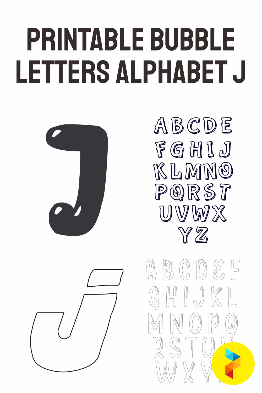 Printable Bubble Letters Alphabet J