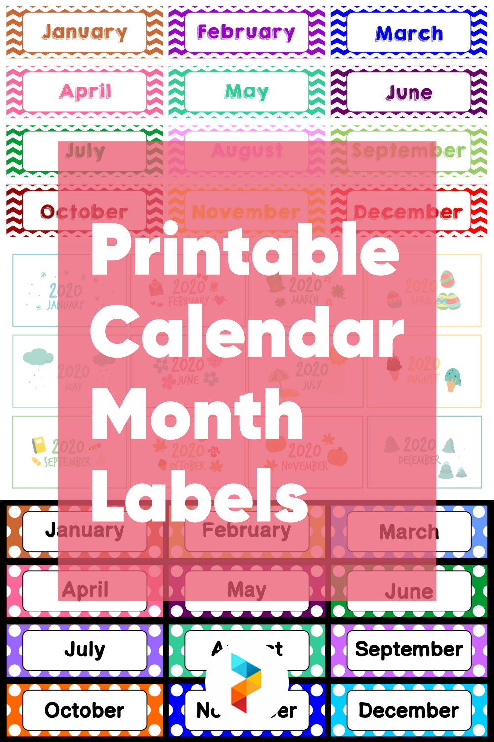 Printable Calendar Month Labels