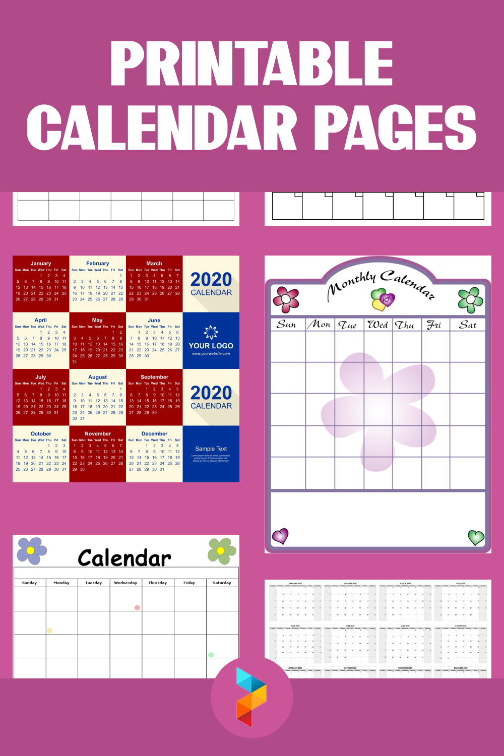 Printable Calendar Pages