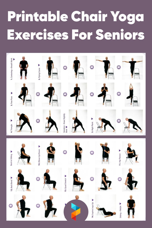 Printable Chair Yoga Exercises For Seniors