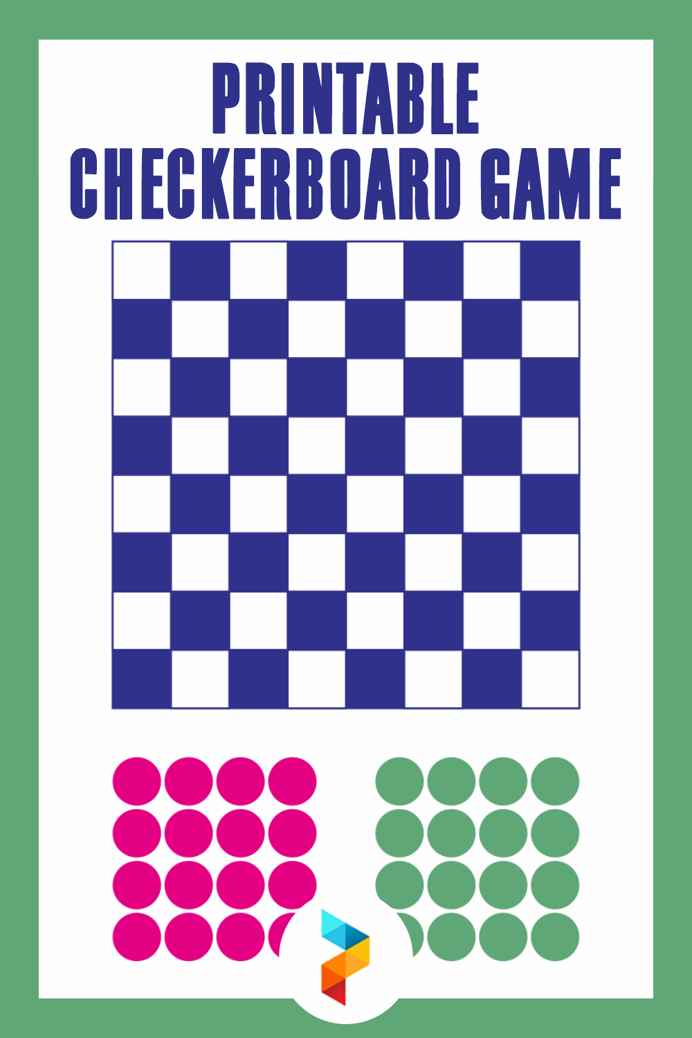 Printable Checkerboard Game