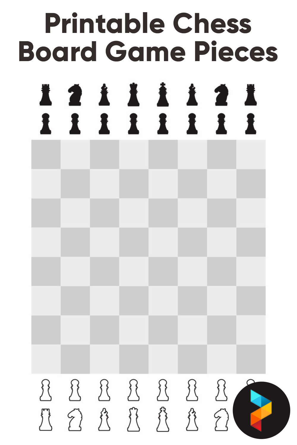 Printable Chess Board Game Pieces