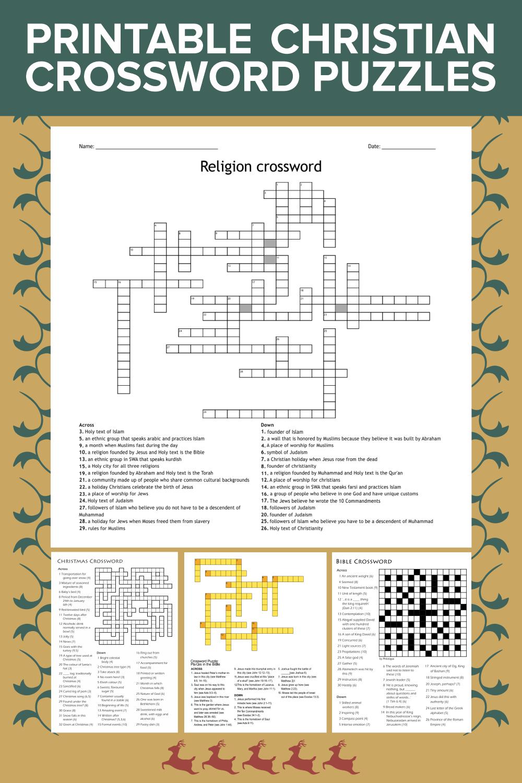 Printable Christian Crossword Puzzles