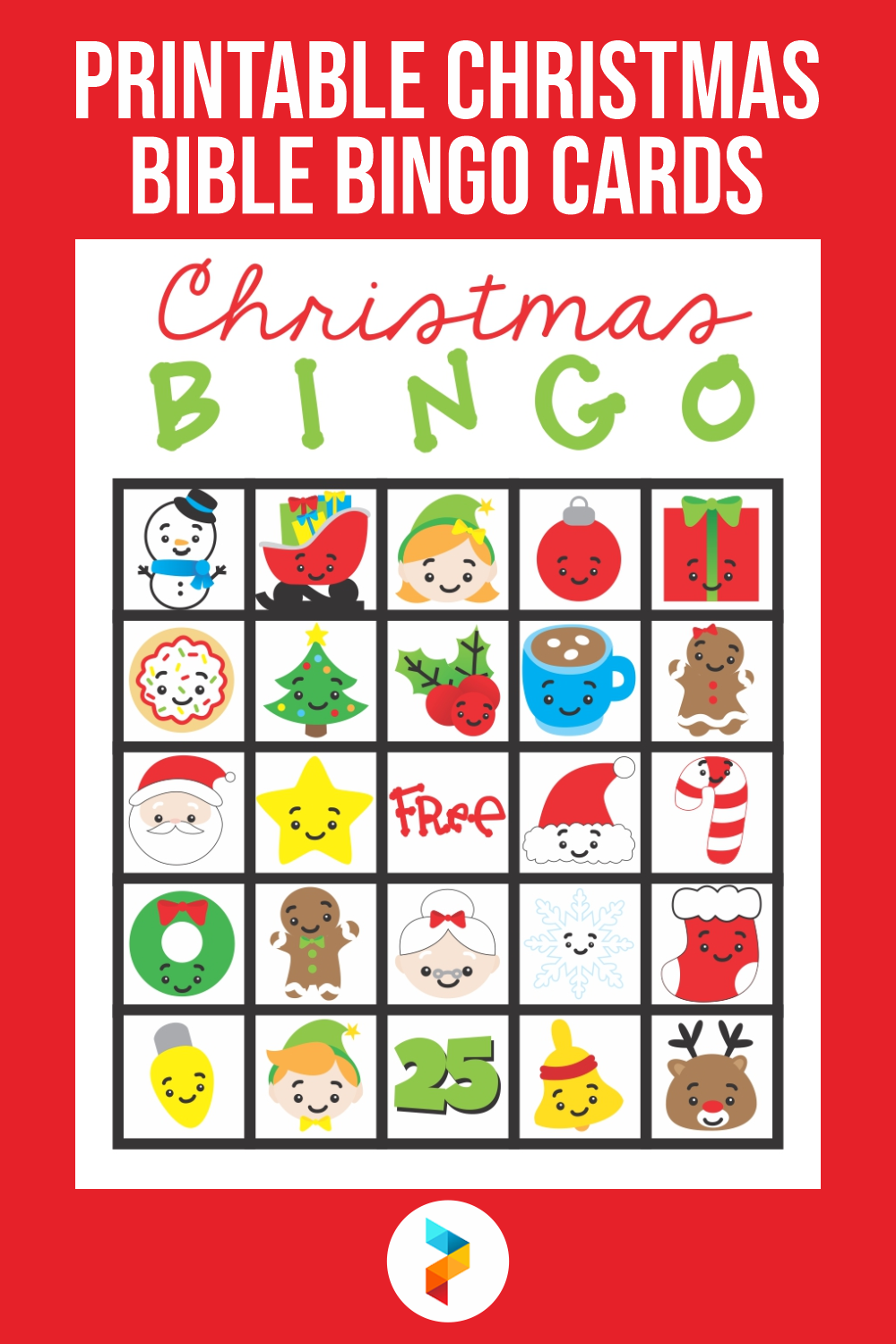 Printable Christmas Bible Bingo Cards