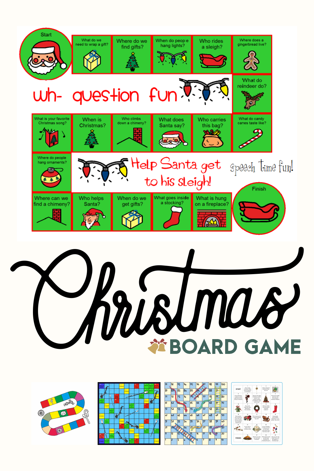 Printable Christmas Board Games