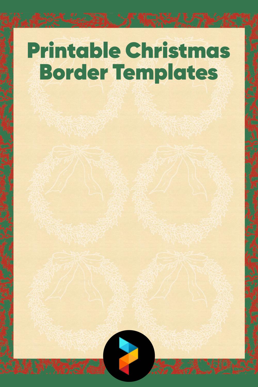 Printable Christmas Border Templates
