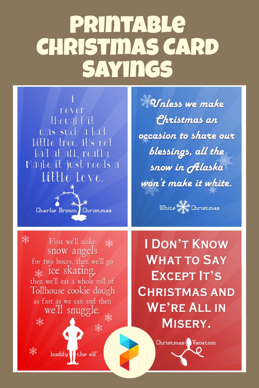 Printable Christmas Card Sayings