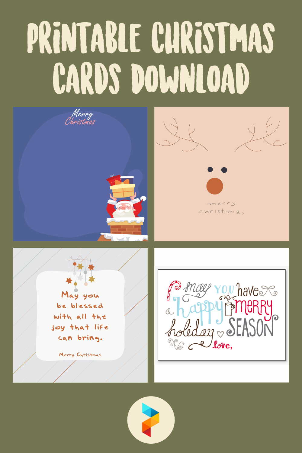 Printable Christmas Cards Download