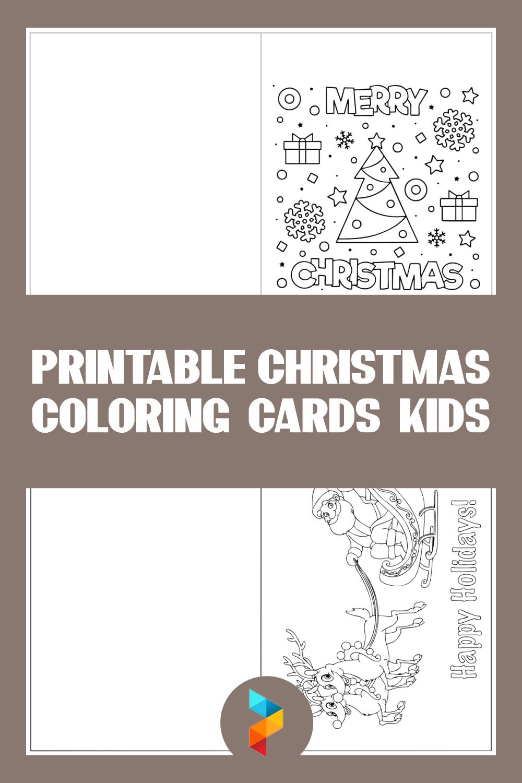Printable Christmas Coloring Cards Kids