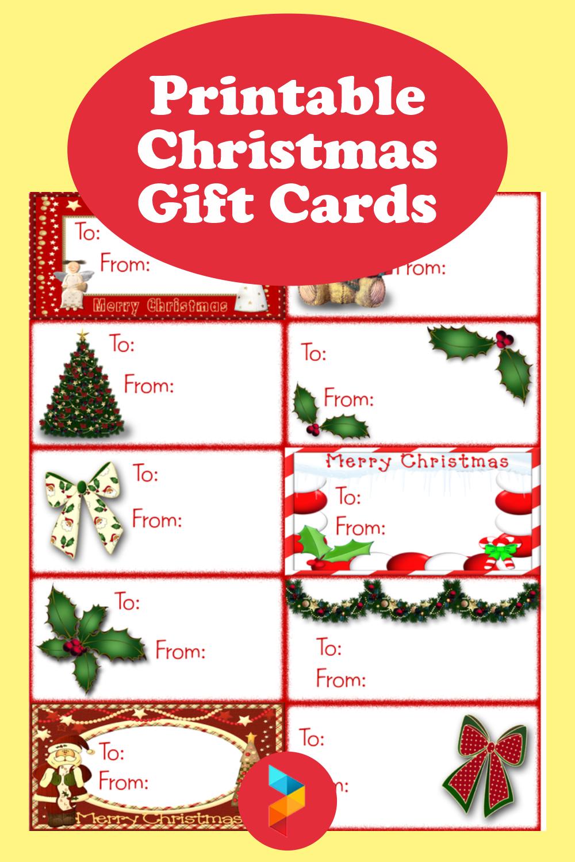 Printable Christmas Gift Cards