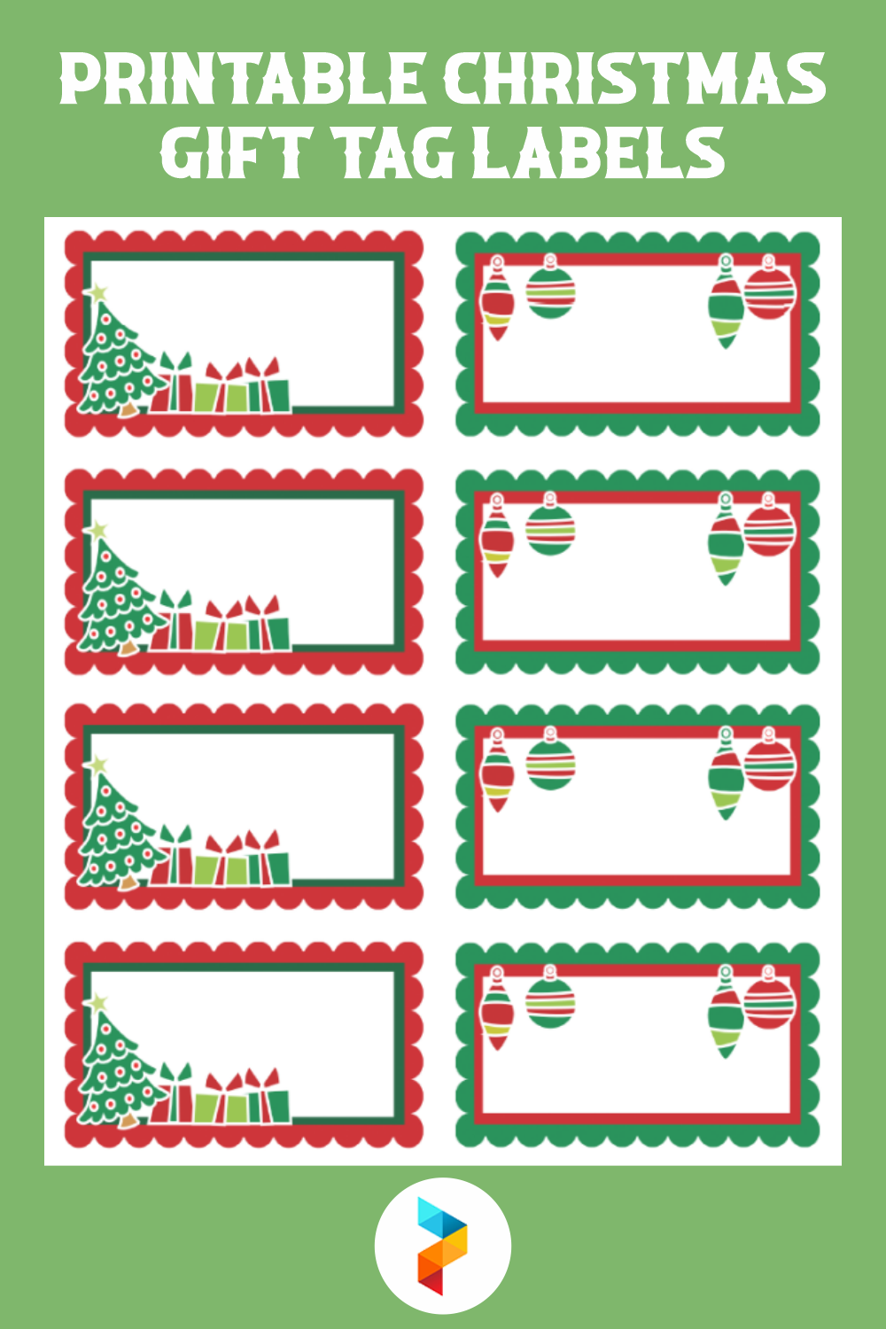 Printable Christmas Gift Tag Labels