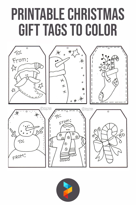 Printable Christmas Gift Tags To Color